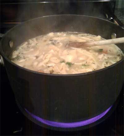 Recipe for homemade chicken noodle soup chicken soup for How long to boil a whole chicken for soup